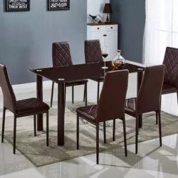 mesa comedor marron