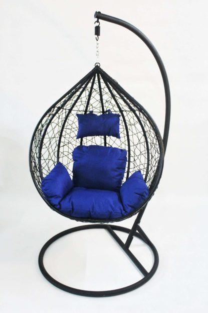 balancin negro cojin azul