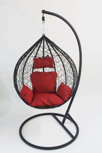 balancin negro cojin rojo
