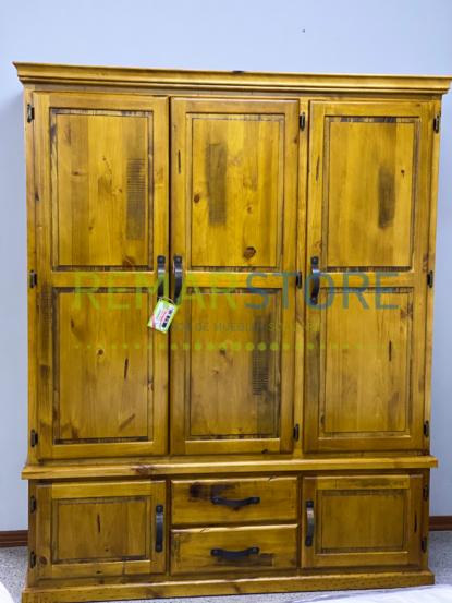 armario de madera3 puertas 4 cajones