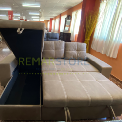 sofa flex cama y arcon marron